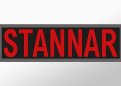"""MAN-Leuchtschild mit Text""""STANNAR"""""""