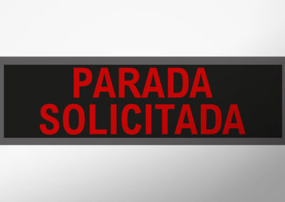"MAN-Leuchtschild mit Text ""PARADA SOLICITADA"""