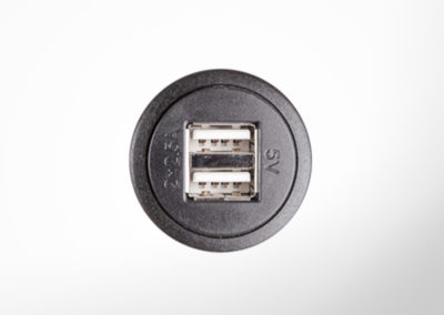 USB 5V double charging socket without lid