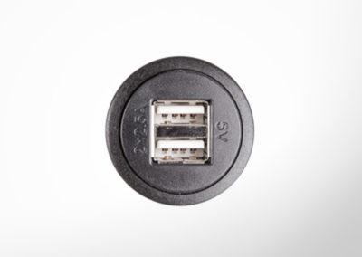 USB 5V Doppelladedose ohne Deckel