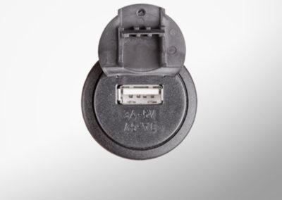 USB 5V charging socket with lid