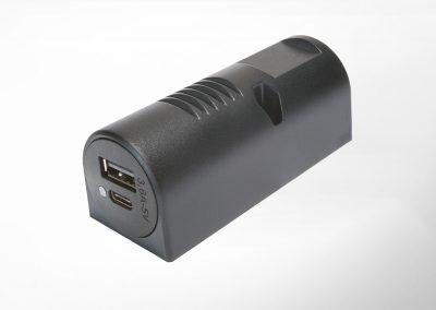 USB-C/A Doppelladedose für Aufbaumontage