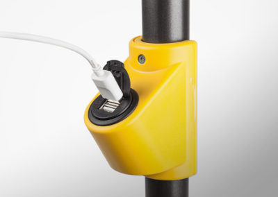 USB charging socket for handle bars