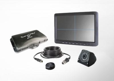 TurnCAM® Abbiegeassistenzsystem mit 10″ QUAD Monitor