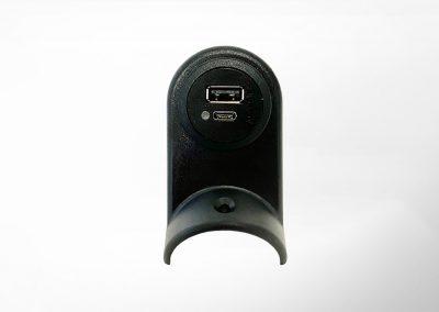 USB-C/A Charger Set für Haltestange