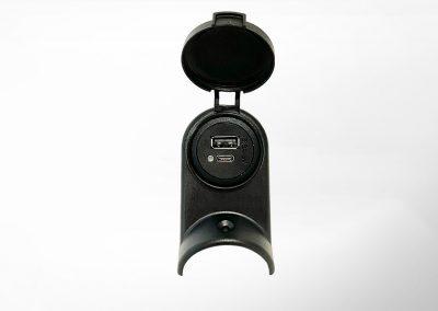 USB-C/A Charger Set mit Deckel für Haltestange